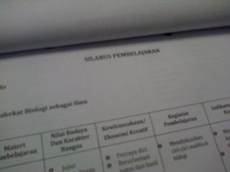 Silabus Pelajaran Biologi MA
