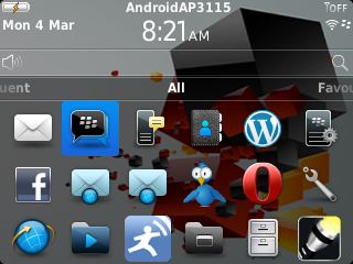 Home Screen Amstrong, Wi-Fi dari android