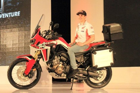 Honda CRF1000L Africa Twin with Marc Marquez